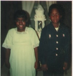Yvette Chante' (6) and Tracy (8) at Gloria 's Wedding to Fred Deming